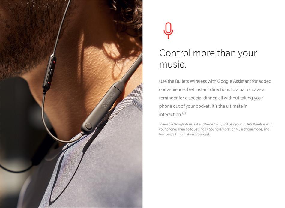 Original Oneplus Bullets Wireless Earphones aptX Neckband For Oneplus 6 Music Freedom Charging Stress Bluetooth Earbuds Earphone (1)