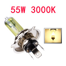2pcs 12V H4 55W Yellow Fog Lights Halogen Bulb High Power Headlight Lamp Car Light Source parking Head auto 60/55W 3000K(China)