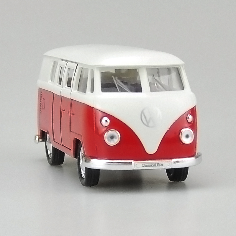 Free Shipping Welly 1962 Volkswagen Bus T1 T2 Welly 1:36 Diecast car model VW Classic cars pull back Pickup Truck boy gift toy(China (Mainland))