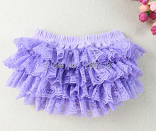 Lavender Ruffle Bloomer Soft Cotton Baby Bloomer With Lace Ruffle Free Shipping(China)