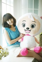 movie cartoon toy huge 120cm lazy goat, beauty goat, pleasant goat plush toy , hugging pillow, Christmas gift s4048