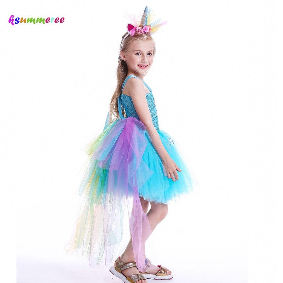 PINK UNICORN TUTU COSTUME Kids Teens Fancy Skirt Dress  Halloween Dash Pony