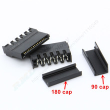 10pcs/lot Black IDE HDD sata Power connector puncture with copper core for Hard Disk