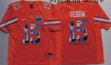 Nike 2016 Florida Gators Orange TEBOW #15  WINSTON #5 Star and Players picturesT-shirt Limited Jersey