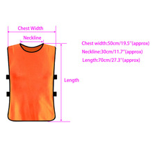 Team Football Soccer Training Adults Pinnies Jerseys Scrimmage Vest Plus Size(China)