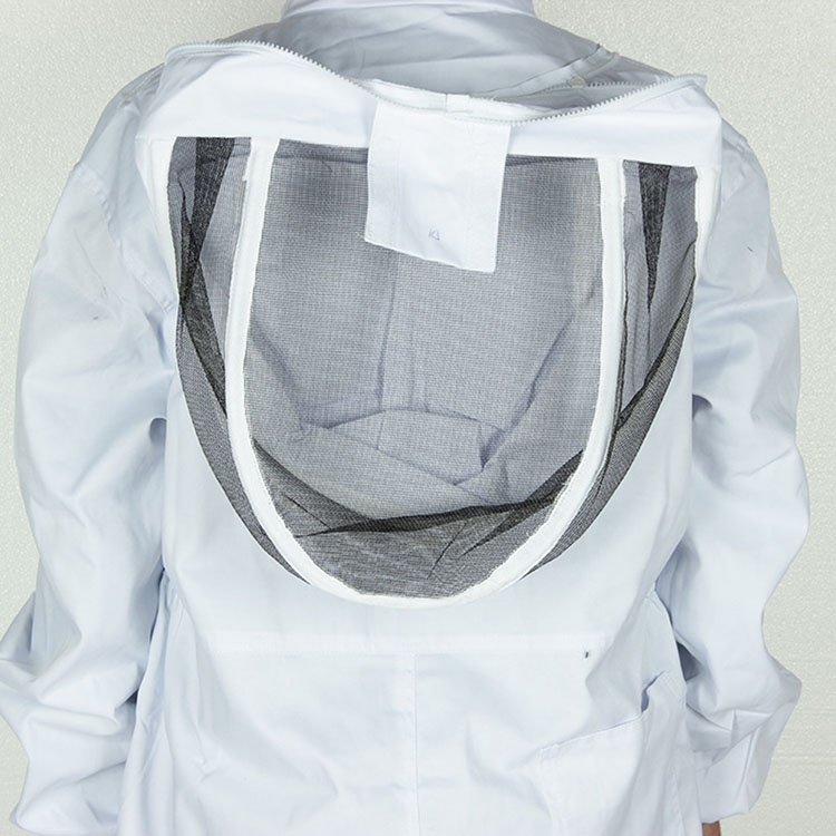 Aolamegs-Apiarist Beekeeping Suit-White-(All-in-One)-Fencing Veil-Total Protection for Professional & Beginner Beekeepers (4)