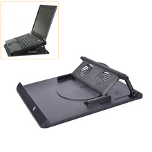 Laptop Holder Cooling 360 Degree Rotation Stand Mount Notebook Table Desk Swivel