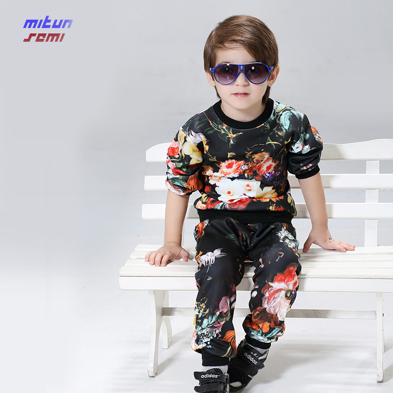 2017 brand new boy suit jacket + pants baby boy clothes Korean children printing clothing set 4-6-8-12 years kids suit boys kid<br><br>Aliexpress