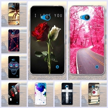 For Nokia Microsoft Lumia 640 Soft Silicon Rubber Case for Nokia 640 3D Printed Cartoon Rose Phone Cases Protective Back Cover