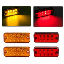 12V 24V 8 LED Waterproof 1pcs Amber Red Brand New Side Marker Light Lamp Truck Trailer Lorry Caravan Waterproof(China)