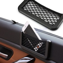 NoEnName_Null Auto Car Vehicle Storage Nets Resilient String Bag Phone holder Pocket Organizer