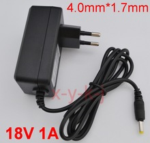 1PCS 18V 1A High quality IC solutions  AC 100V-240V Converter Adapter DC 18V 1A 1000mA Power Supply EU Plug 4.0mm x 1.7mm