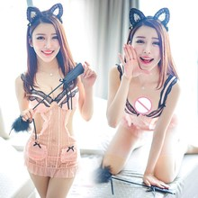 Buy Porn Women Teddy Babydoll Chemises Lingerie Sexy Hot Erotic Maid Lingerie Uniform Cosplay Sexy Costumes Underwear Role Play