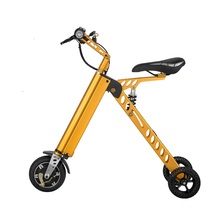 3 Wheel Foldable Electric Scooter Portable Mobility folding electric bike lithium battery 36v bicycle E-bike(China)