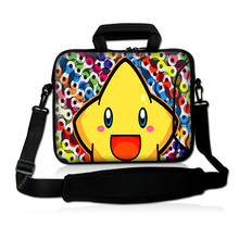 "Yellow Star 10""Laptop Carrying Bag Sleeve Case Cover w/Side Pocket +Shoulder Strap For 9.7"" -10.2"" Laptop Tablet PC"