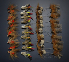 40Pcs Grasshopper Dry Flies Terrestrial fly Trout Fly Fishing Lures