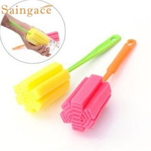 Saingace bottle cleaning brush Kitchen Cleaning Tool Sponge Brush For Wine glass Bottle Coffe Tea Glass Cup #10 2017 GIFT Drop