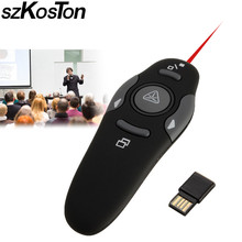 Wireless Presenter Red Laser Pointers Pen USB Receiver USB RF Remote Control Page Turning PPT Powerpoint Presentation(China)