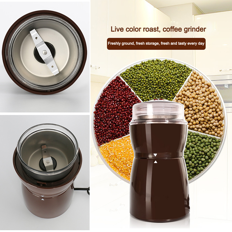 Coffee Grinders Household Electric Grinders Coarse Grain Miscellaneous Cereal Mills Gifts Grilled Coffee Beans<br>