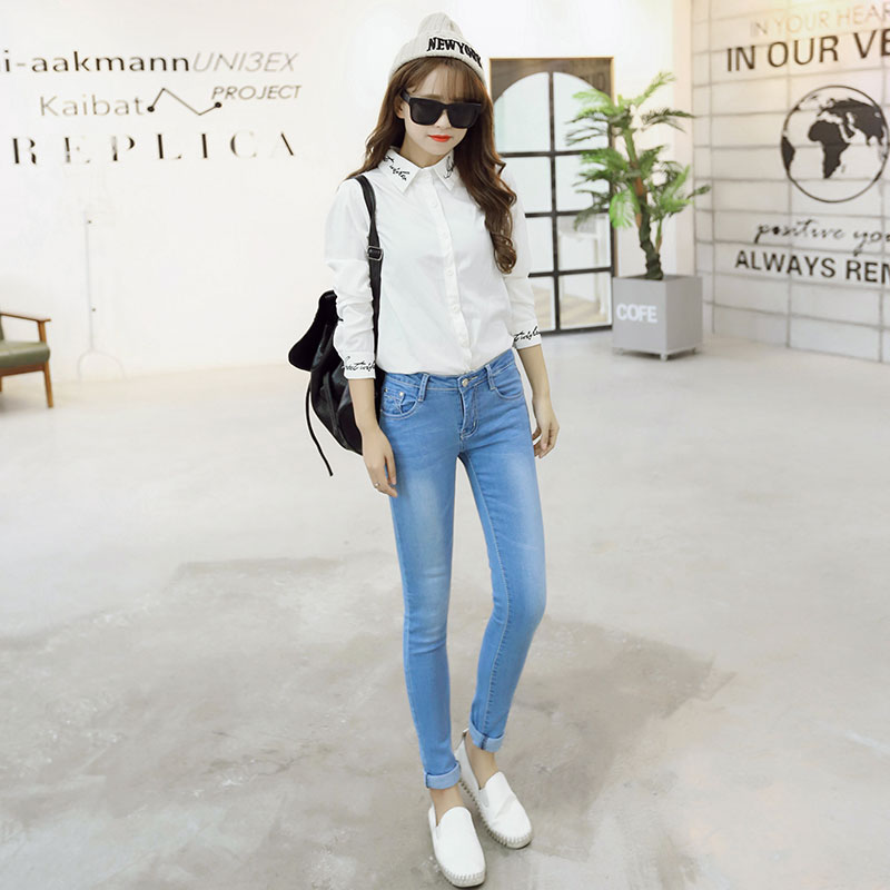 Stretch WOMAN 2017 Spring New Jeans Female Sexy Slim Denim Pants Pencil Ripped Skinny Jeans  3 Colors Cotton Size 25-31 SS0022Одежда и ак�е��уары<br><br><br>Aliexpress