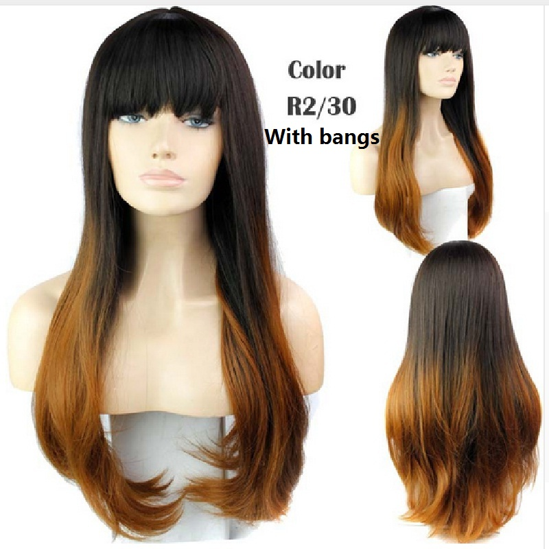 Red black purple cosplay full wigs wavy curly hair bundles synthetic cheap fashion two tone color ombre wigs heat resistant<br><br>Aliexpress