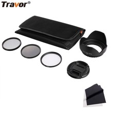 Professional 49MM 55MM 58MM 62MM 67MM 72MM 77MM ND+CPL+UV Camera Filter Kit For Pentax Sony Nikon Canon Lenses & Accessories