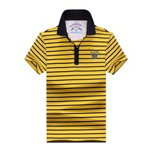 plus size 10XL 9XL 8XL 7XL 6XL Men Polo Shirt Short Sleeve 100% Cotton Striped Polo Business Casual Men Performance Polo Shirts(China)