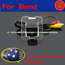 for sony ccd 4 LED HD CCD Benz GLK Camera wire wireless Car Rear View Camera For Benz( Mercedes) X204 GLK Series GLK350(China)