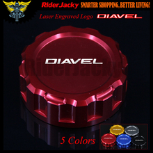 Red Motorcycle CNC Rear Brake Master Cylinder Reservoir Cover Cap For Ducati Diavel 2010-2017 2011 2012 2013 2014 2015 2016(China)