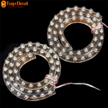 Sale 50cm 12V LED Universal Car Daytime Running Light Waterproof Flexible White LED DRL Strip Headlight Tail Stop Brake Fog Lamp(China)