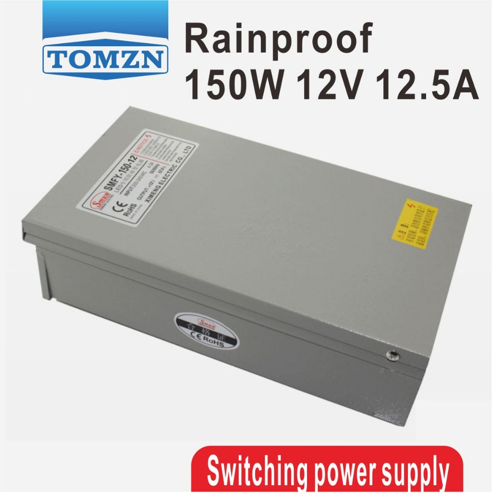 150W 12V 12.5A Rainproof outdoor Single Output Switching power supply smps AC TO DC for LED<br>