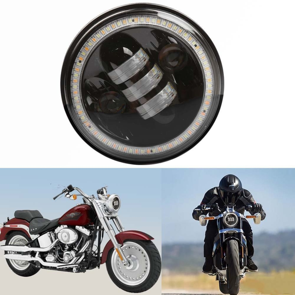 Harley Flashing Angel eyes 5.75 Motorcycle Led Headlight H4 Daymaker 12V Round Headlamp For Harley Motorcycle 5-3/4 Headlights<br><br>Aliexpress
