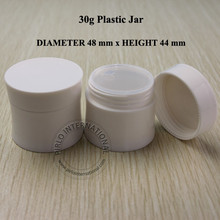 50pc 30ml Slim Empty Cosmetic Plastic Container Jars Bottles Small Sample Pot Box Jar With Lid For Cream Jars Cosmetic Packaging(China)