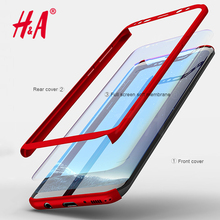 H&A 360 Degree Phone Cases For Samsung NOTE 8 S7 Edge Case S8 Plus Shockproof Cover For Samsung Galaxy S8 Plus NOTE 8 Case(China)
