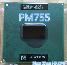 PM755 cpu Pentium Laptop CPU PM 755 2M 2.0G 400 MHz SL7EM Perfect replacement PM765 supports 855(working 100% Free Shipping)(China)