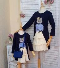 new arrival mother and daughter dress original design Cute cat dress Family matching clothes(China)
