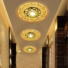 Lampshade Crystal Ceiling Light Bedroom Flower Ceiling Light Round LED Home Decoration Lamps Modern Acrylic Lamp