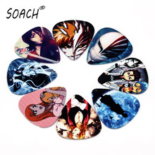 SOACH 10pcs 0.71mm Japanese anime bleach two side earrings pick DIY design guitar accessries pick guitar picks