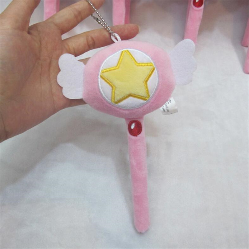 Anime Cardcaptor Sakura Magic Wand Cute Cosplay Costumes Kinomoto Accessory Weapon Props Magic Wand Stick 15cm Pendant Online Discount Costume Props Novelty & Special Use