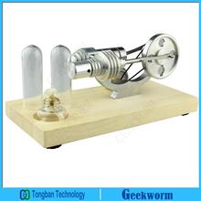 New Educational Hot Air Stirling Engine Micro-generator Engine S02006 Model with LED Light Steam Model for Gifts & Toys