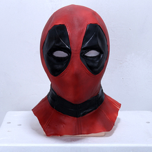 Deadpool Wade Winston Wilson Superhero Full Head Mask Red Soft Latex Cosplay Props Party Halloween Fancy Dress Ball(China)