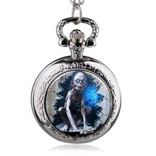 New Arrival Fashion The Lord of the Rings Quartz Pocket Watch Pendant Necklace Antique Jewelry Clock