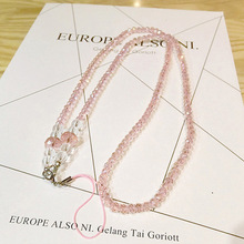 Luxurious Crystal Sling Neck Necklace Strap Lanyard U Disk Holder ID Work Card Mobile Phone Chain Straps Keychain