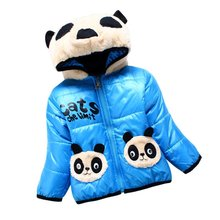 Winter Baby Girl Lovely Coats Warm Jackets Hooded Cartoon Bear Outerwear Jackets Toddler Thickening Parkas Kids Clothes