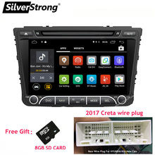 ZENISS Quad Core Android6 Car DVD For Hyundai Creta IX25 2014-17 with 2GB RAM 4G MODEM GPS Radio Navigation OBD2(China)