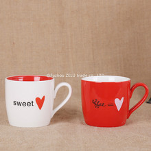 Sweet Love Heart Ceramic Mugs Cup Fashion Couples Milk Cup Coffee Tea Beer Mug Cup Birthday Christmas Gift Home Decor 7Z