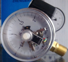 "2.5"" Magnetic help 60mm electric contact pressure gauge manometer , lower mount,bottom connection(China)"