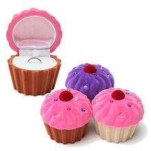 1 Piece Delicate Storage Boxes Women Girls Earring Ring Jewelry Storage Box Cute CupCake Cake Shape Christmas Gift Storage Boxes