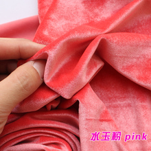 Pink Silk Velvet Fabric  Velour Fabric  Pleuche Fabric  Clothing Fabric  Evening Wear  Sports wear  Sold By The Yard