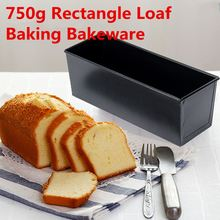 Cake Baking Pan Rectangle Nonstick Box New Large Loaf Tin Pastry Bread Bakeware Black Loaf Tin For Kitchen Tools